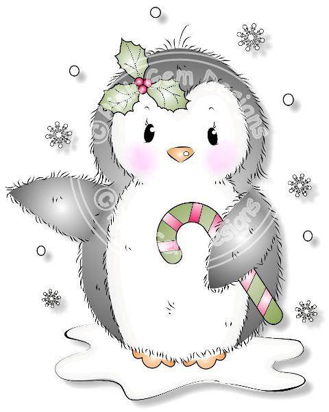 Digitale Digi timbro pinguino carino. Rende di PinkGemDesigns