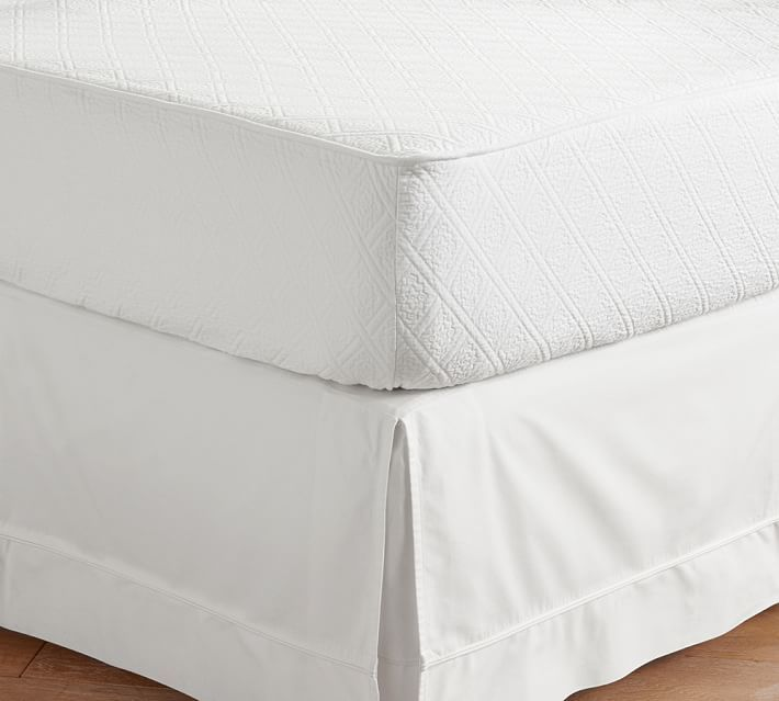 Reeve Matelasse Organic Daybed Mattress Cover Twin White