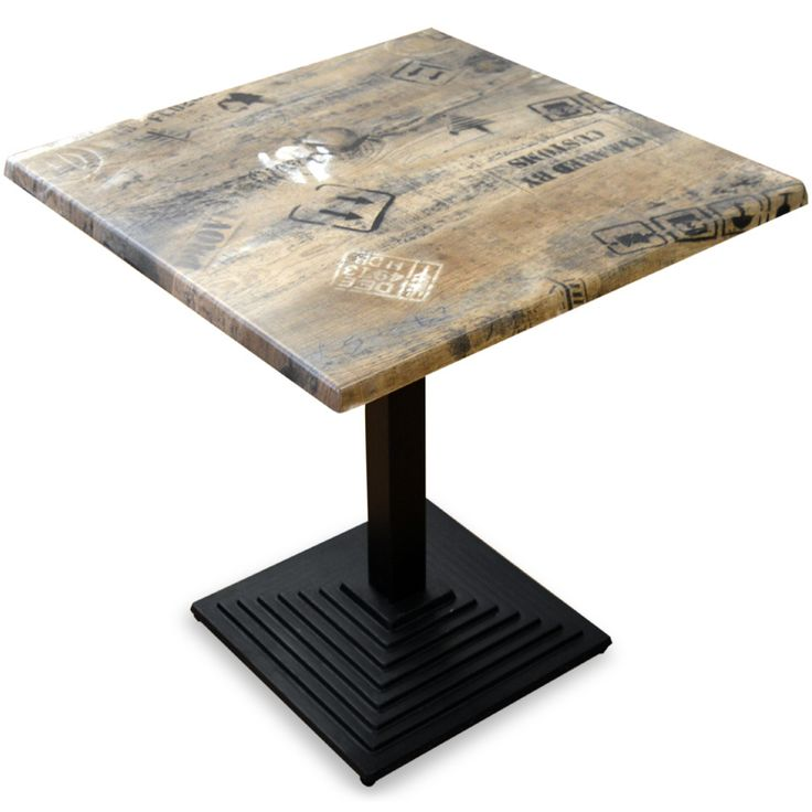 Mesa bar cuadrada docks industrial vintage 70 x 75 2 cm for Mesa vintage industrial