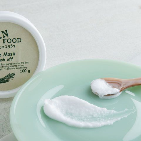 SKINFOOD Rice Mask Wash Off - Soko Glam. A creamy scrub for mild, but still incredibly effective, exfoliation