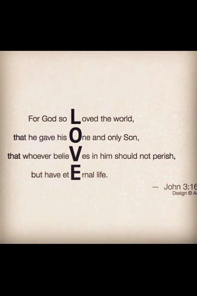 John 3:16(: