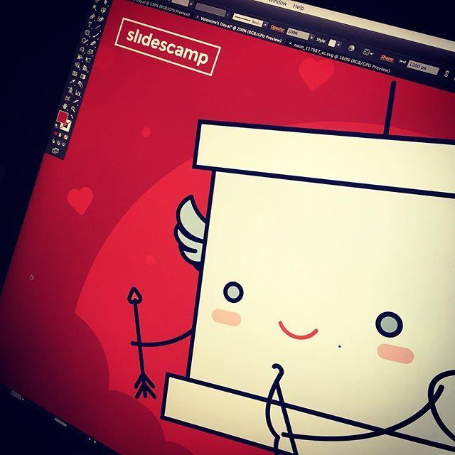 Work in progress #illustration #vector #workinprogress #socialmedia #valentines #mrslide