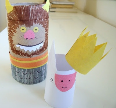 'Where the Wild Things Are' TP Roll Puppets