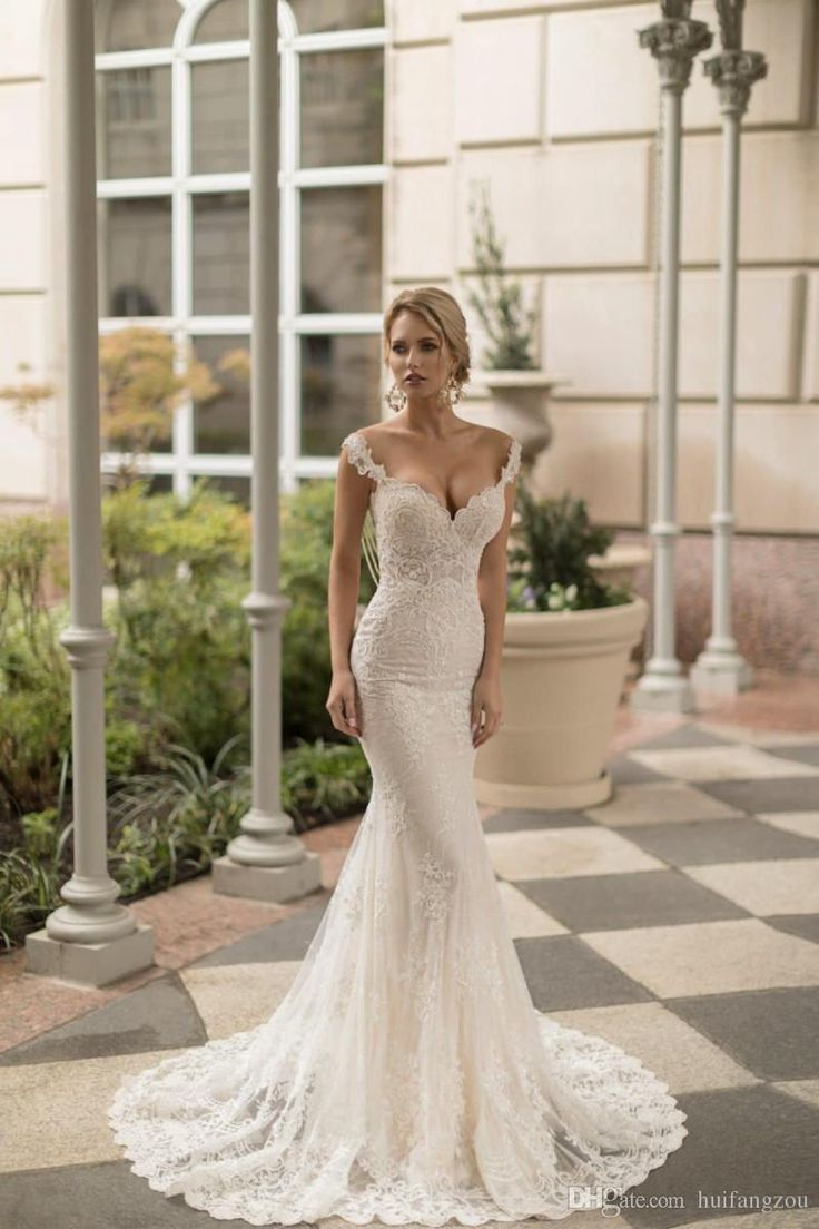 Naama & Anat 2018 Wedding Dress Vintage Full Lace Applique Sequins Beading Desig…