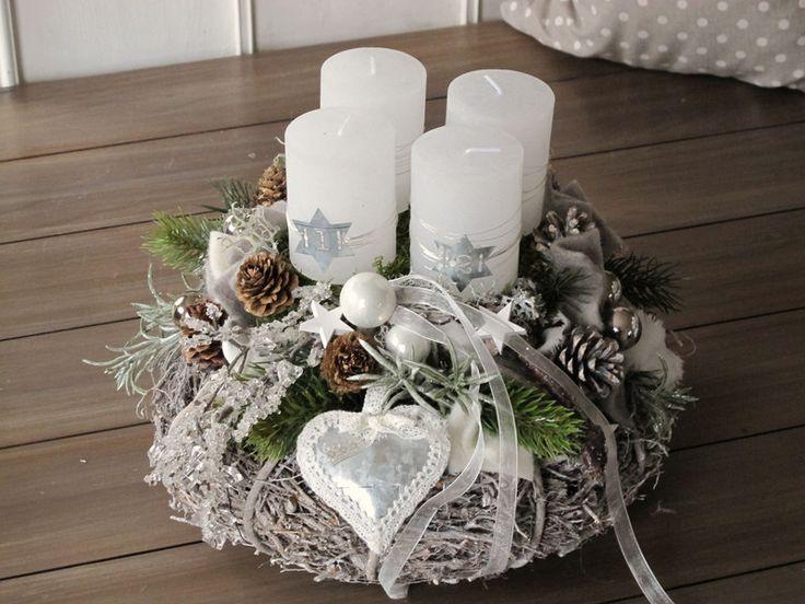 adventskranz eiszeit dawanda weihnachten und. Black Bedroom Furniture Sets. Home Design Ideas
