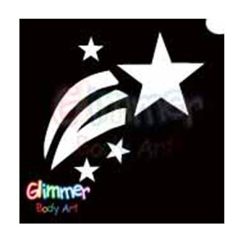 Glimmer Body Art Glitter Tattoo Stencils - Shooting Star (5/pack) #femalebodyphotography