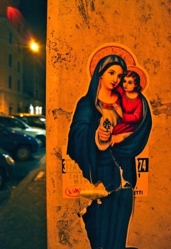 Faith robbers street art.
