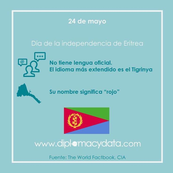 """No tiene idioma oficial, Tigrinya es la lengua más extendida. Su nombre significa """"rojo"""". ¡Feliz día de la independencia #Eritrea! #diplomacydata"""