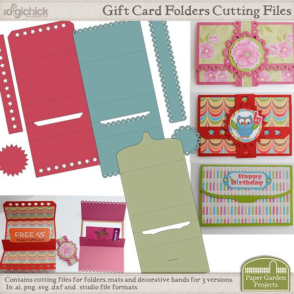 DigiChick Gift Card Holders