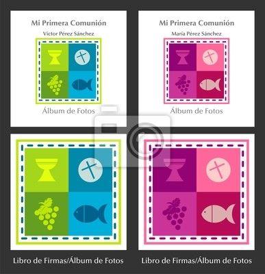 """Fotomurales """"portador, imagen, luz - mi primera comunion"""" ✓ Montaje sencillo ✓ 365 días para devolver ✓ ¡Mira otros diseños de la colección!"""