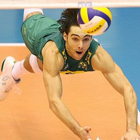 Giba Neles! What a god... probably the most amazing men's volleyball player ever