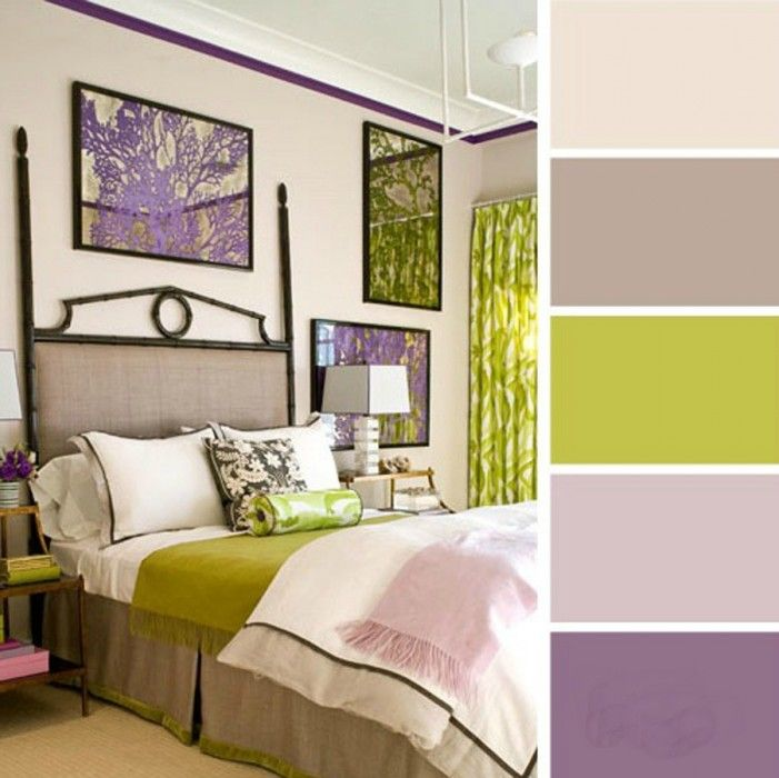 paleta de colores para dormitorio lila verde limon grises                                                                                                                                                     Más