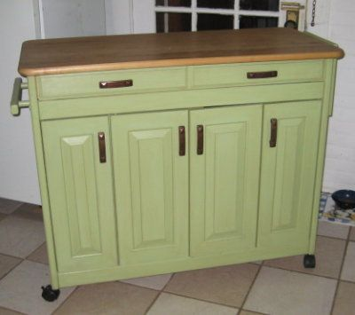 Kitchen Butcher Block On Wheels : Butcher Block Kitchen Island On Wheels - WoodWorking Projects & Plans