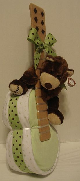 Brisky Bear Rockin Guitar Diaper Cake by RainbowShowers on Etsy, $40.00