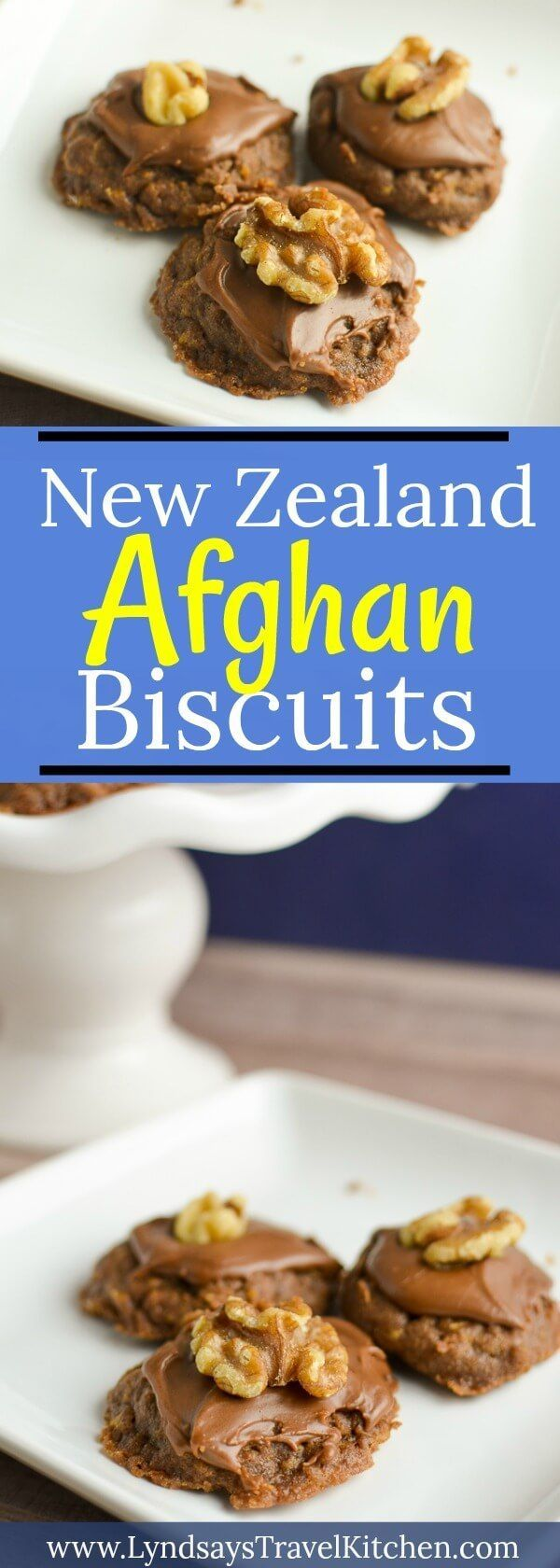 These New Zealand Afghan Biscuits are the perfect holiday cookie to make this Christmas season! Made with cornflakes, these chocolate cookies will be gone in a snap!
