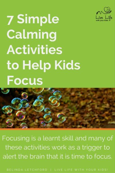 Our kids need to learn to calm down - one of these 7 activities may help.