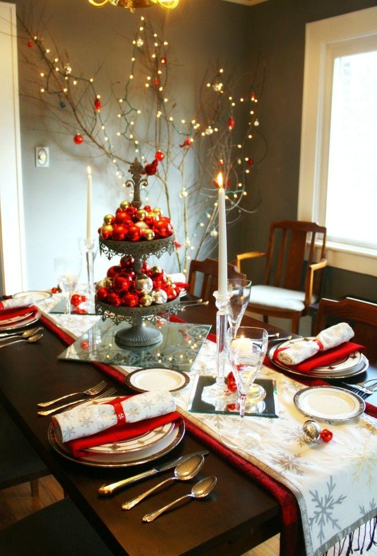 original decoración de mesa de navidad