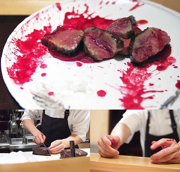 DEN-bloody-steakChefs Zaiyu, Master Culinary, Food Porn, Chefs Hasegawa, Culinary Comedians, Zaiyu Hasegawa, Chubby Hubby, Dennings, Coolest Places