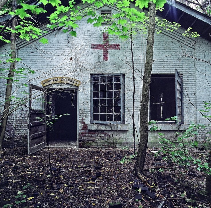 """""""Hospital Entrance"""" -- [A hidden hospital in Youngstown, Ohio]~[Photographer Sean Galbraith]'h4d-21.2012'"""