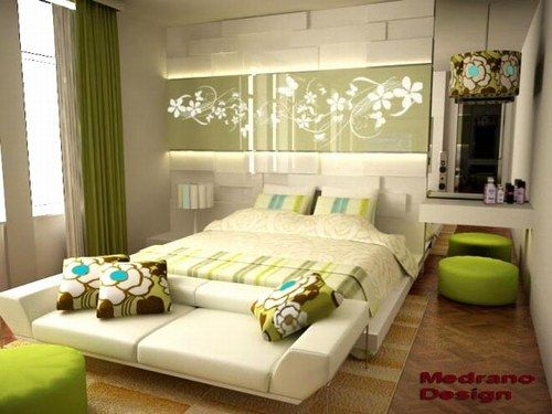 decorar dormitorio verde | inspiración de diseño de interiores