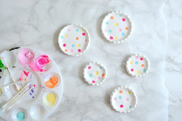 DIY polka dot ring dishes