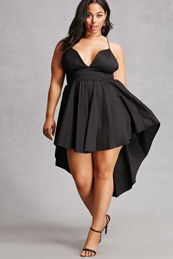 Plus Size High-Low Cami Dress