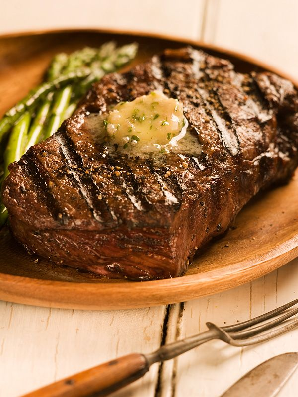Fire-Grilled Steak with Steakhouse Butter Recipe on Yummly. @yummly #recipe