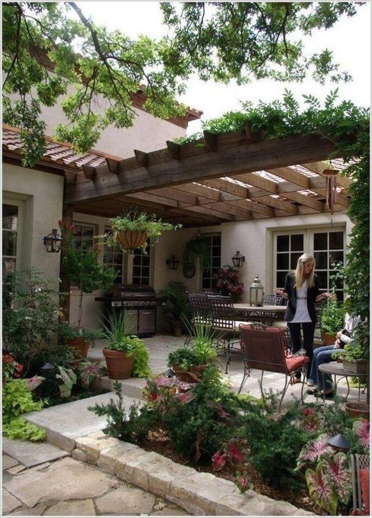 ✔50 stunning small patio garden decorating ideas 26
