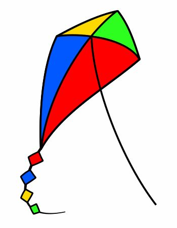 A simple technique to draw a nice cartoon kite in a few seconds only!