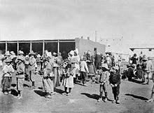 Boer women and children in a British run concentration camp in South Africa (1900 - 1902)