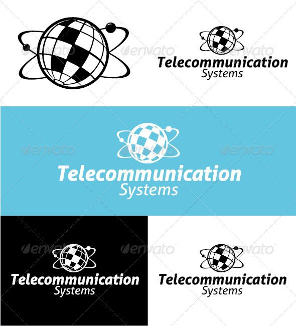 Telecommunication Systems Logo — Vector EPS #simple #earth • Available here → https://graphicriver.net/item/telecommunication-systems-logo/3049489?ref=pxcr