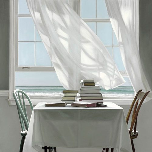 "Karen Hollingsworth Art ""Beach Read"""