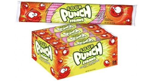 Sour Punch Straws - Strawberry 24ct