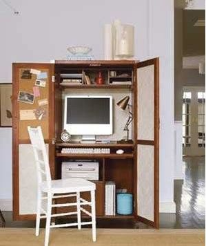 21 ideas for organizing your home office computer armoire