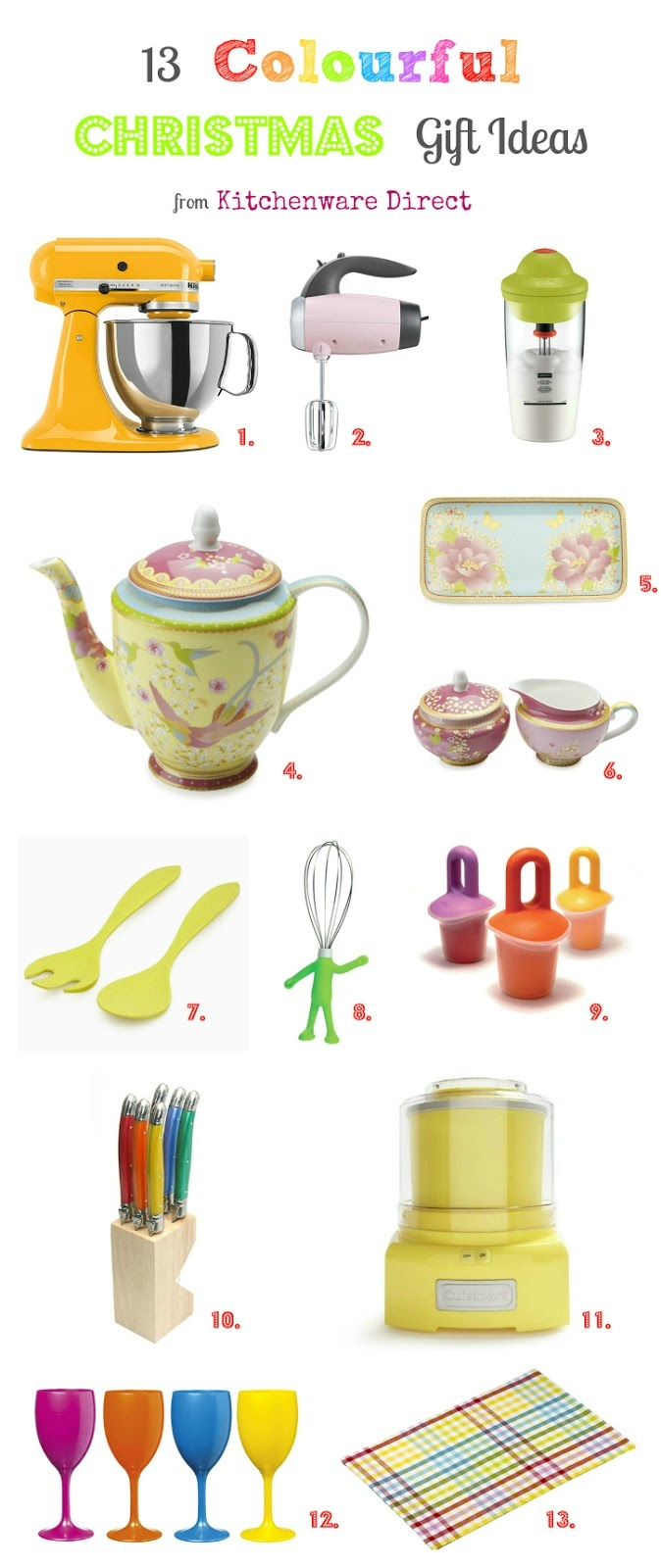 13 colourful gift ideas from @Kitchenware Direct