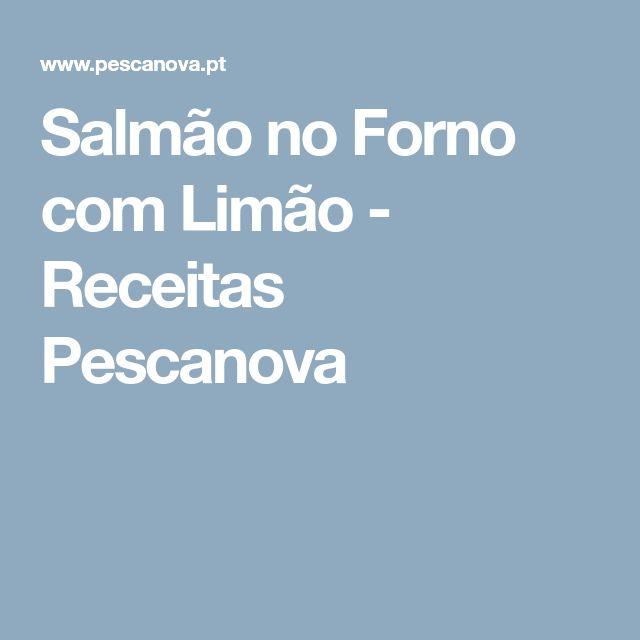 Salmão no Forno com Limão - Receitas Pescanova