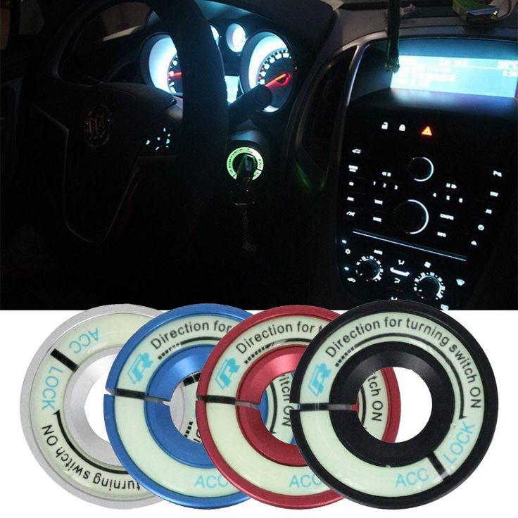 新しい車発光イグニッションスイッチカバー装飾キーサークルリング用vwビートルJetta5ポロgolf6用アウディa1 a3 a4 tts