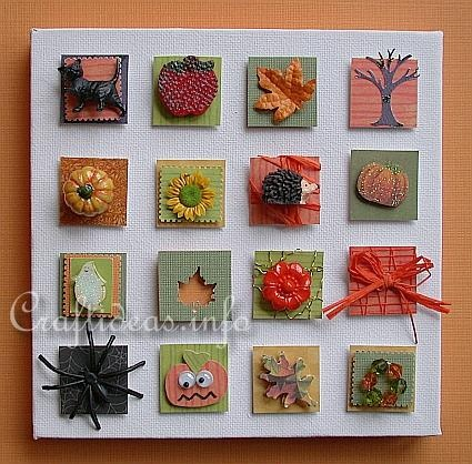 Inchies on canvas {craftideas.info}