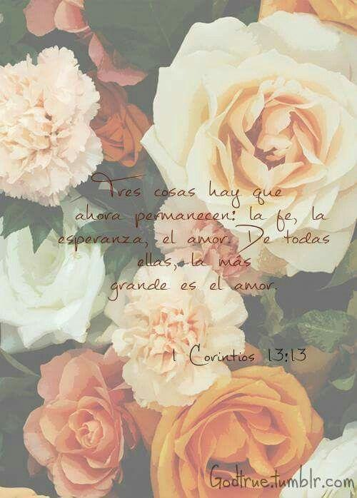 1 corintios 13:13 Y ahora permanecen la fe, la esperanza y el amor, estos tres…