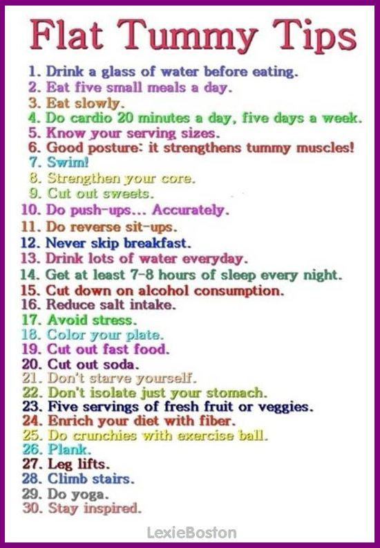 Healthy Lifestyle tips, not just for Flat Tummy!