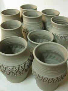 Stamped Mugs: Pottery Ideas, Practical Craft, Artistic Outlets, Stamped Mugs, Project Ideas