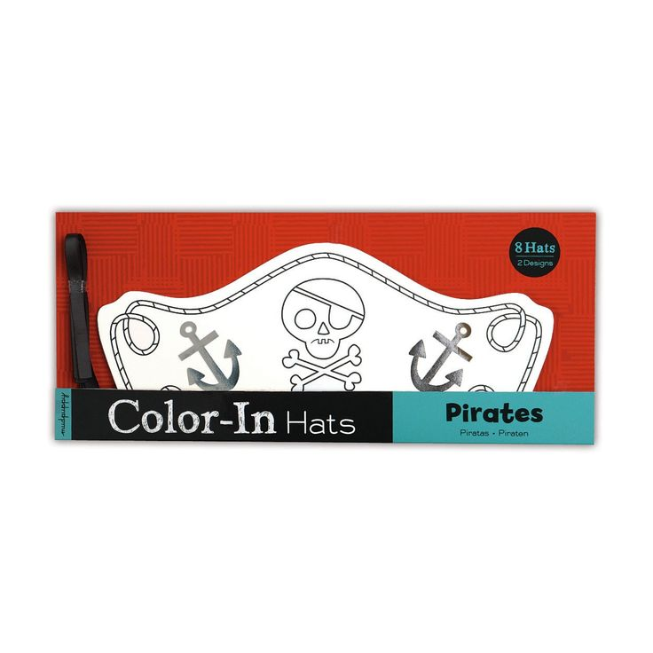 Pirates Color-In Hats Color in hats Mudpuppy Mudpuppy