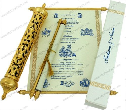 Royal Scroll To The Core An Exquisite Vintage Scroll Card Is The E