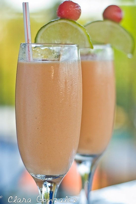 papaya milkshake -   We use vegan milk.  And we add cinnamon.  My husband lived in the DR and he always had them with cinnamon.  He likes to freeze the papaya and then you do not need to add the ice.