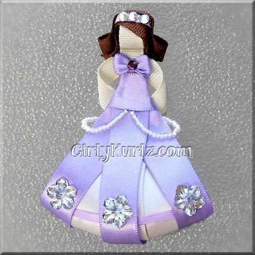 Sofia the First Ribbon Sculpture Hair Clip Princess Hair Clip Princess Hair Bow. $9.25, via Etsy.