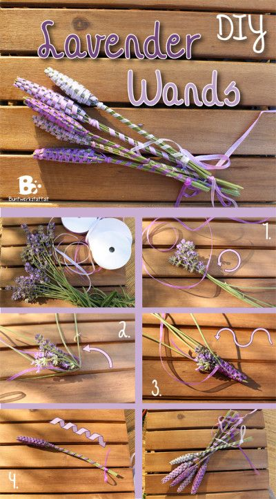 How to make Lavender Wands – DIY