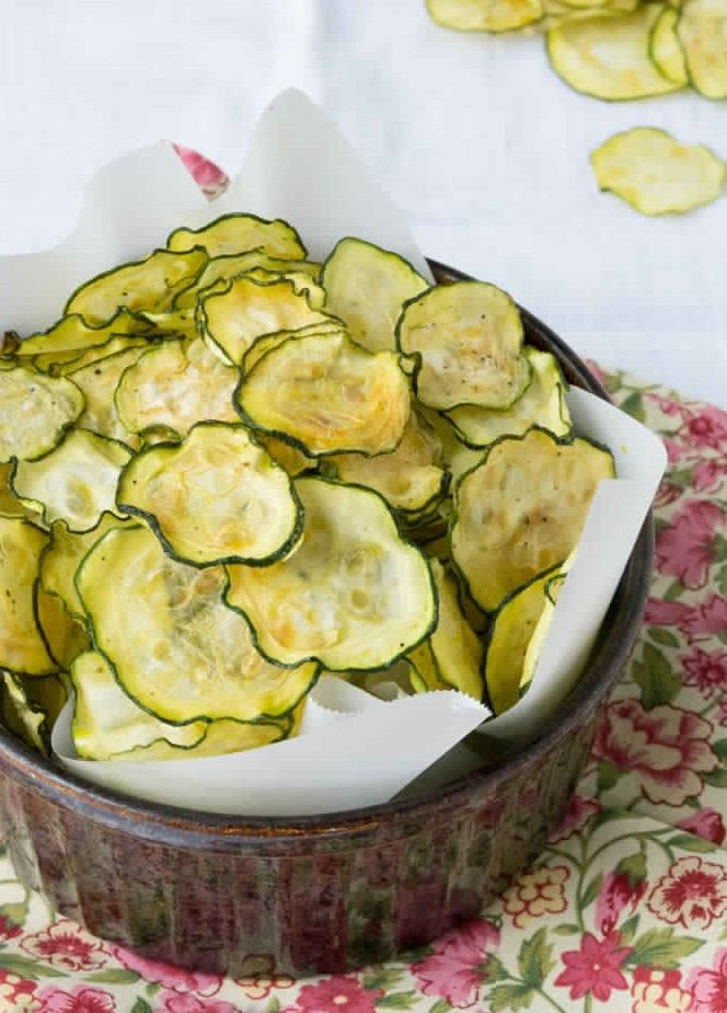 Salt and Vinegar Zucchini Chips.