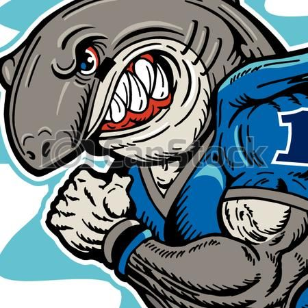 EPS Vector of shark football player - mean shark football mascot csp27945748 - Search Clip Art, Illustration, Drawings and Clipart Vector Graphics Images