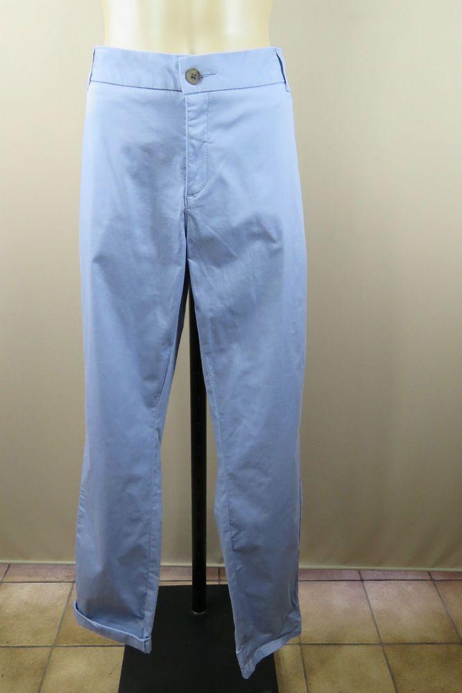 NWT Plus Size 18 2XL Ladies Blue Chino Pants Stretch Skinny Leg Casual Design