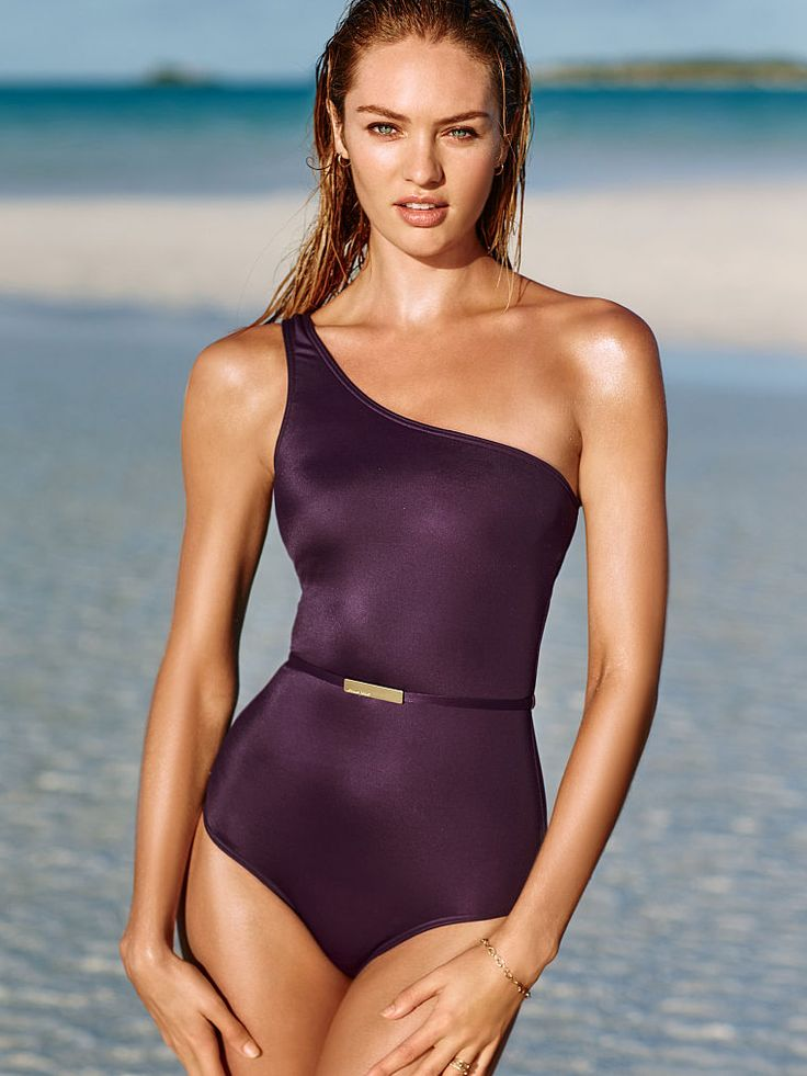 Belted Asymmetric One Piece Wild Eggplant Forever Sexy